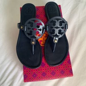 Navy Blue Tory Burch Miller Sandals